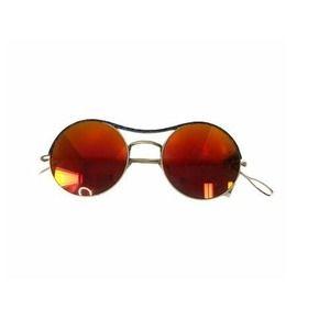 Kyme Sun Shade Ros Top Combo Metal Round Sunglass